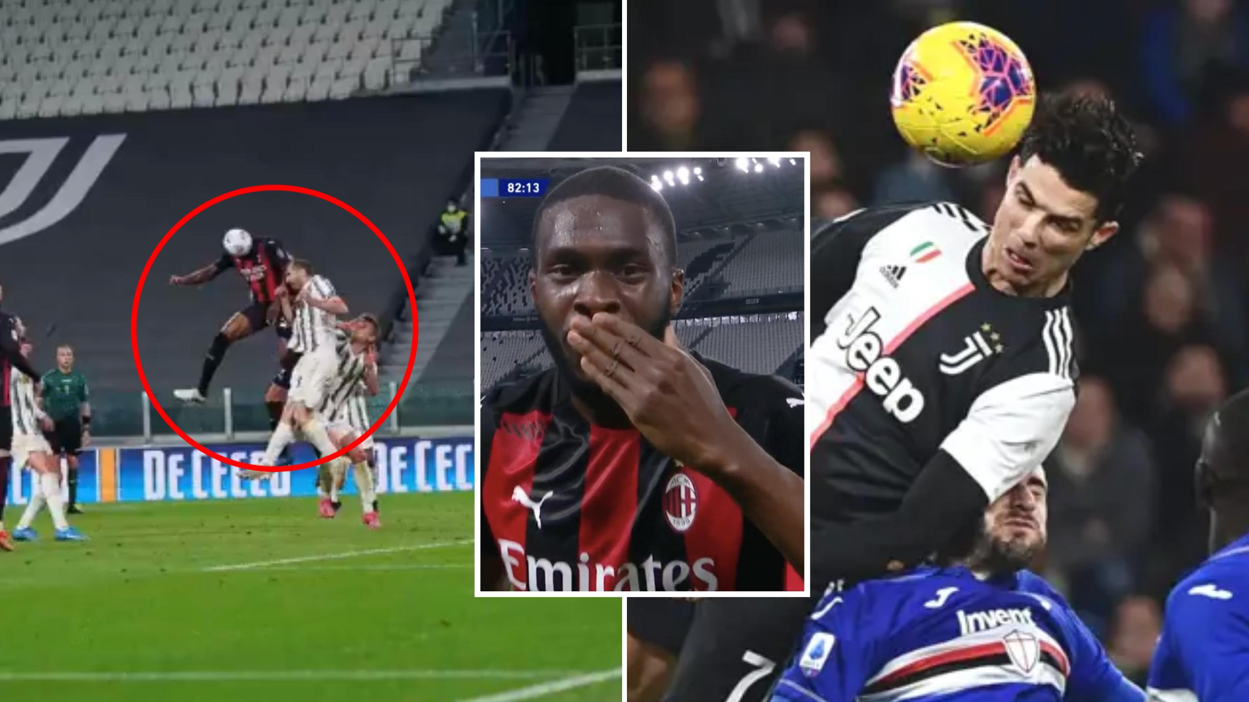 Fikayo Tomori Smashed Cristiano Ronaldo S Serie A Jump Record With Milan Vs Juventus Goal