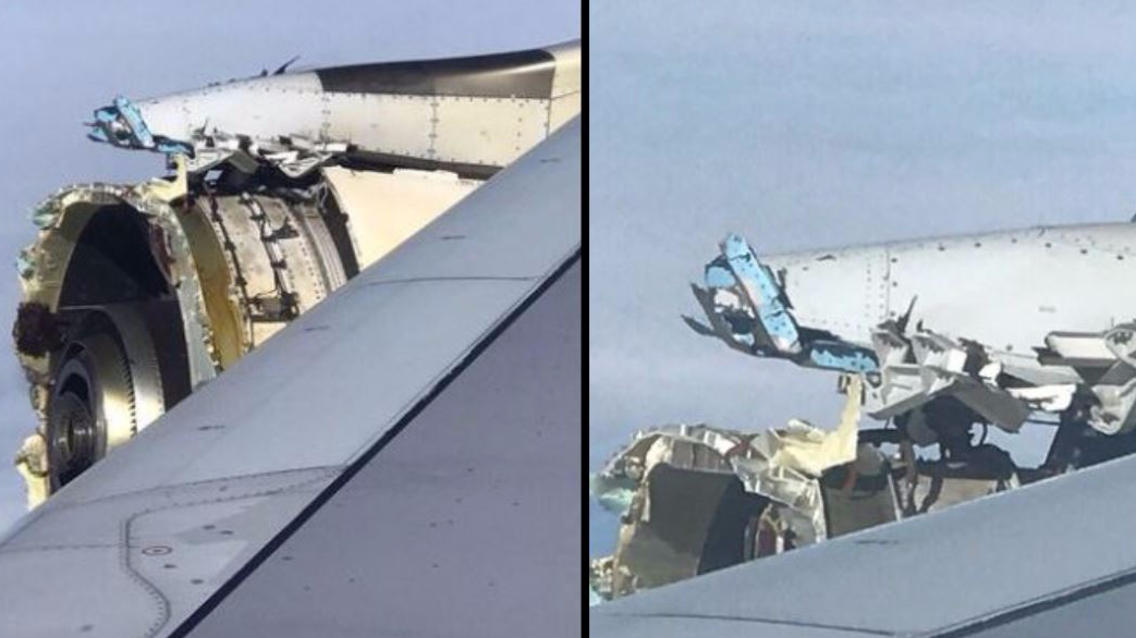 Horrifying Footage Shows Moment Plane's Engine 'Disintegrates' In The Sky