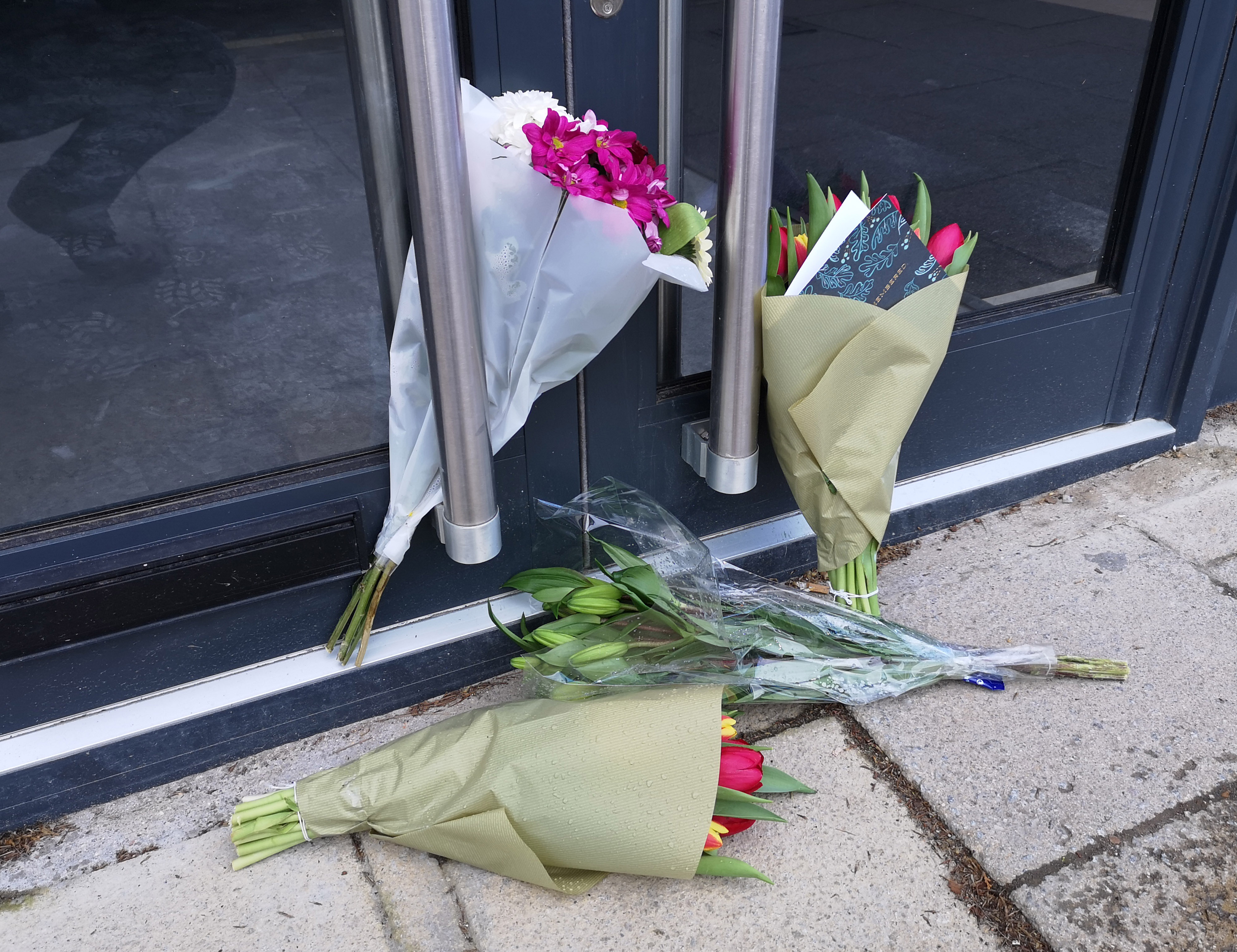 Tributes left outside the cafe that Mike Thalassitis planned to open. Credit: PA