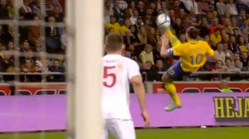 Remembering Zlatan Ibrahimovic's Incredible 30-Yard Overhead Kick Against England