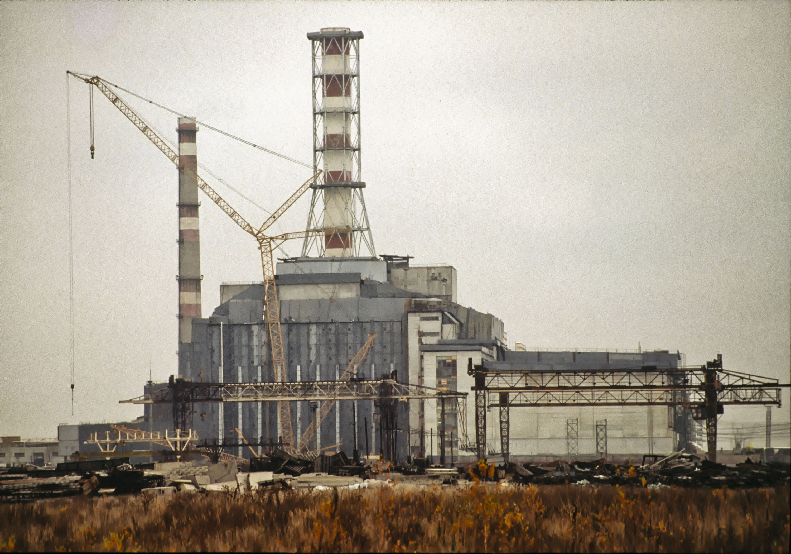 Reactor No. 4 of the Chernobyl power plant. Credit: PA