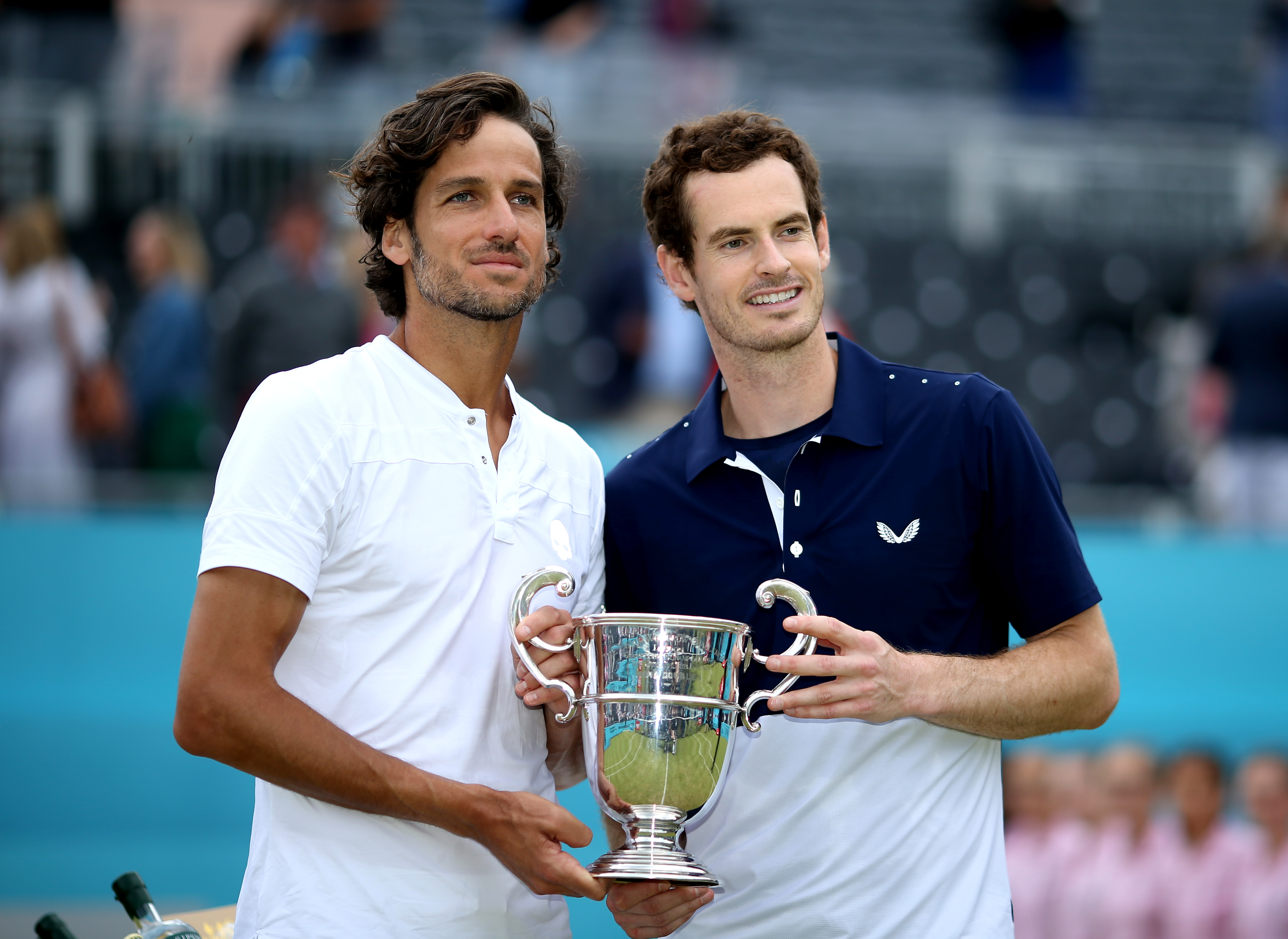 Murray and partner Feliciano Lopez won the doubles at Queen's. Image: PA Images