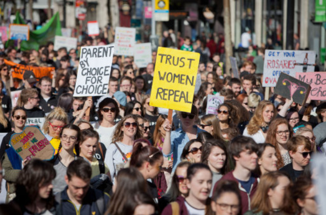 Since 1980, 170,000 women and girls have travelled from Ireland to another country an abortion - 3,000 travelling to Britain in 2018 alone. Credit: PA