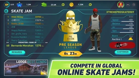 You can play online in Skate Jam. Credit: Maple Media