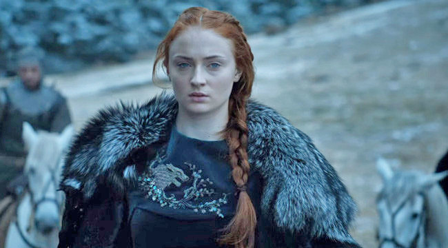 Sophie Turner, aka Sansa, wasn't happy about people's criticism. Credit: HBO