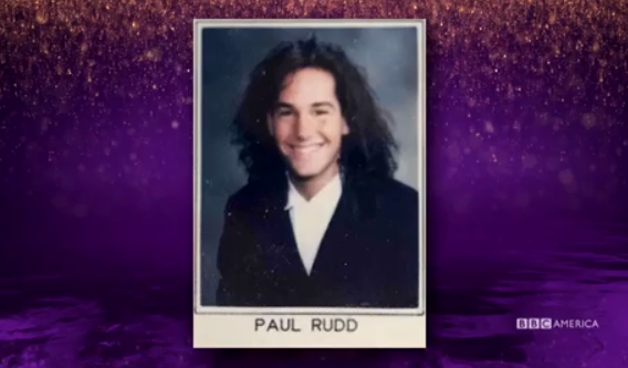 Paul Rudd used to sport a lovely, full head of hair. Credit: BBC