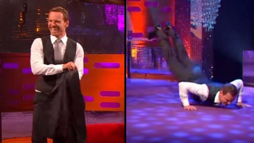 Michael Fassbender Does The Worm On 'The Graham Norton Show'