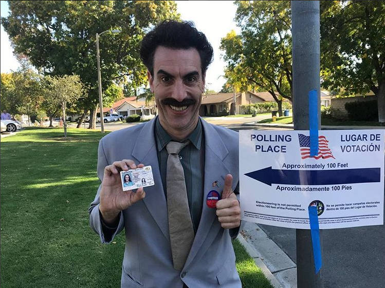 Borat returns to television to 'tamper' with U.S.  election