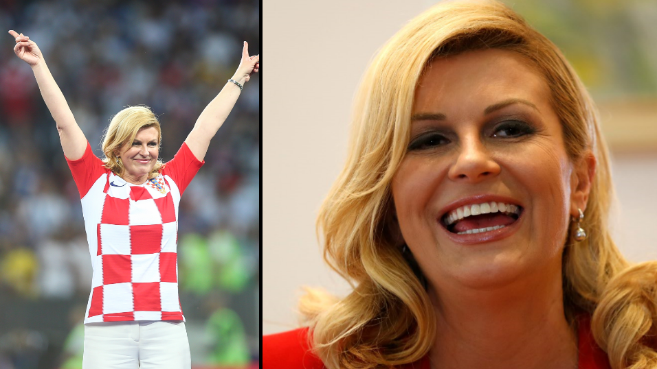 Croatian President Kolinda Grabar Kitarovic Wins Hearts At World Cup