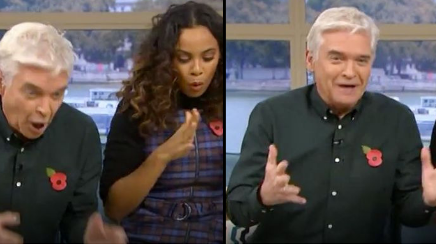 ​Phillip Schofield Suffers Awkward Blunder With 'Great, Big, Buzzing Dildo' On This Morning