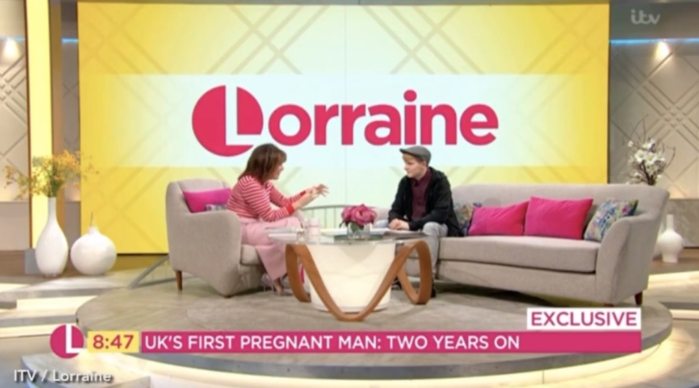 Hayden appeared on Lorraine. (Credit: ITV)