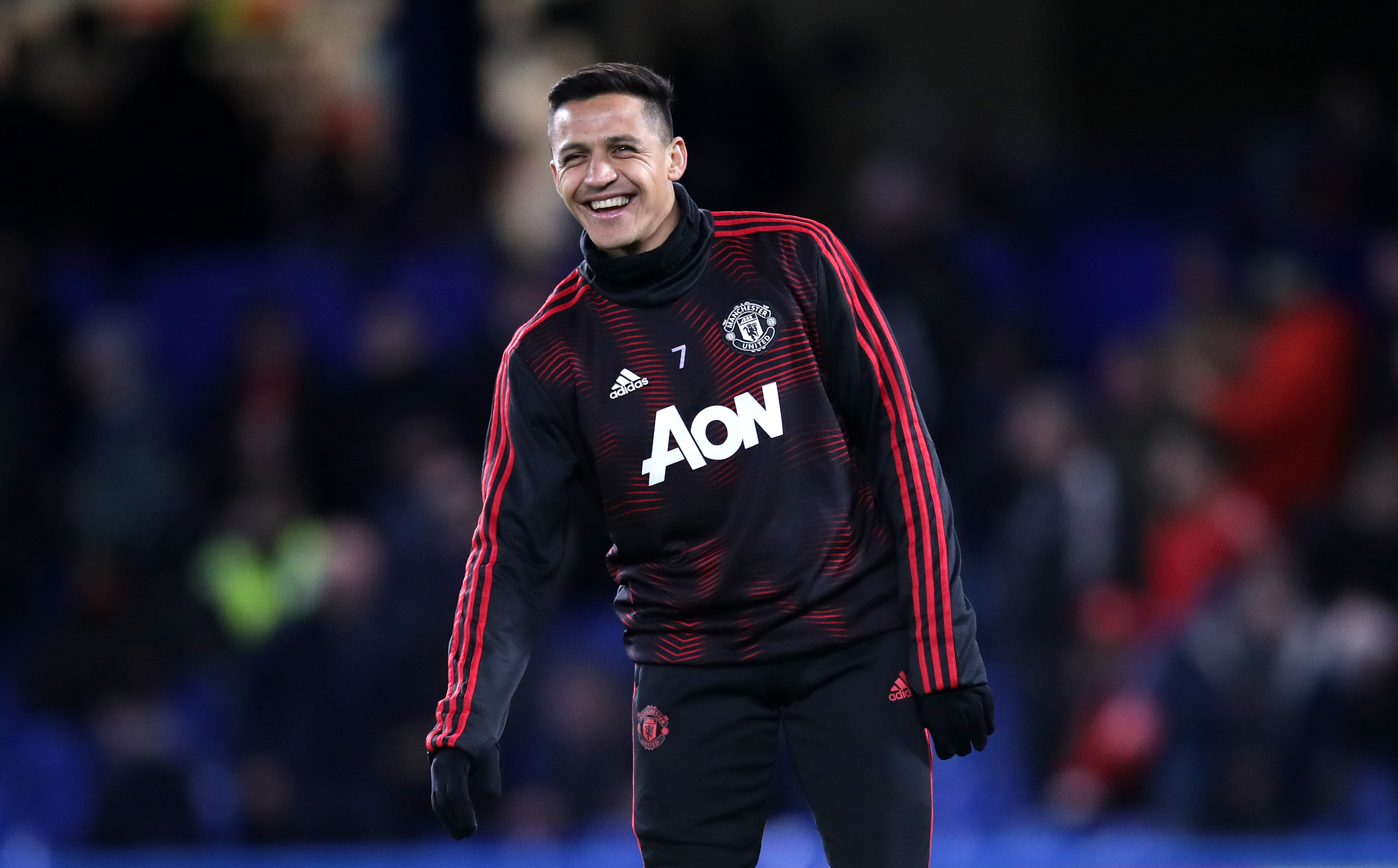 Sanchez laughing all the way to the bank. Image: PA Images