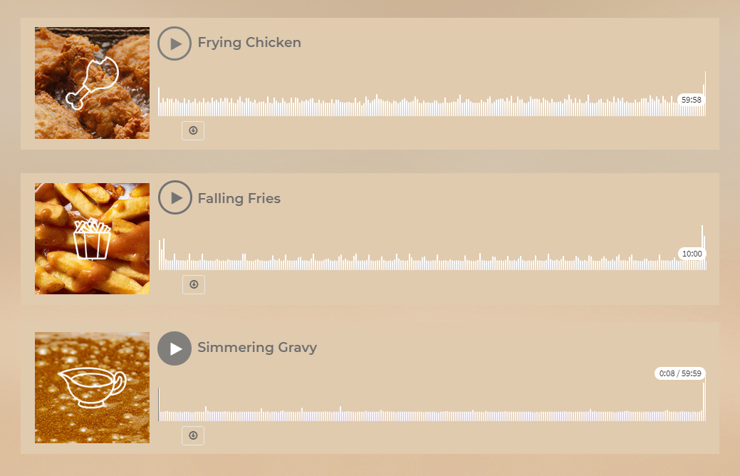 You can listen to the sounds of fast food. Credit: KFC