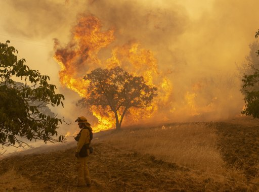 California fire burns its way into history