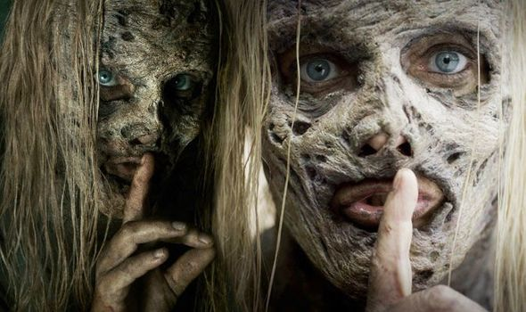 The Whisperers are set to shake up The Walking Dead universe. Credit: AMC