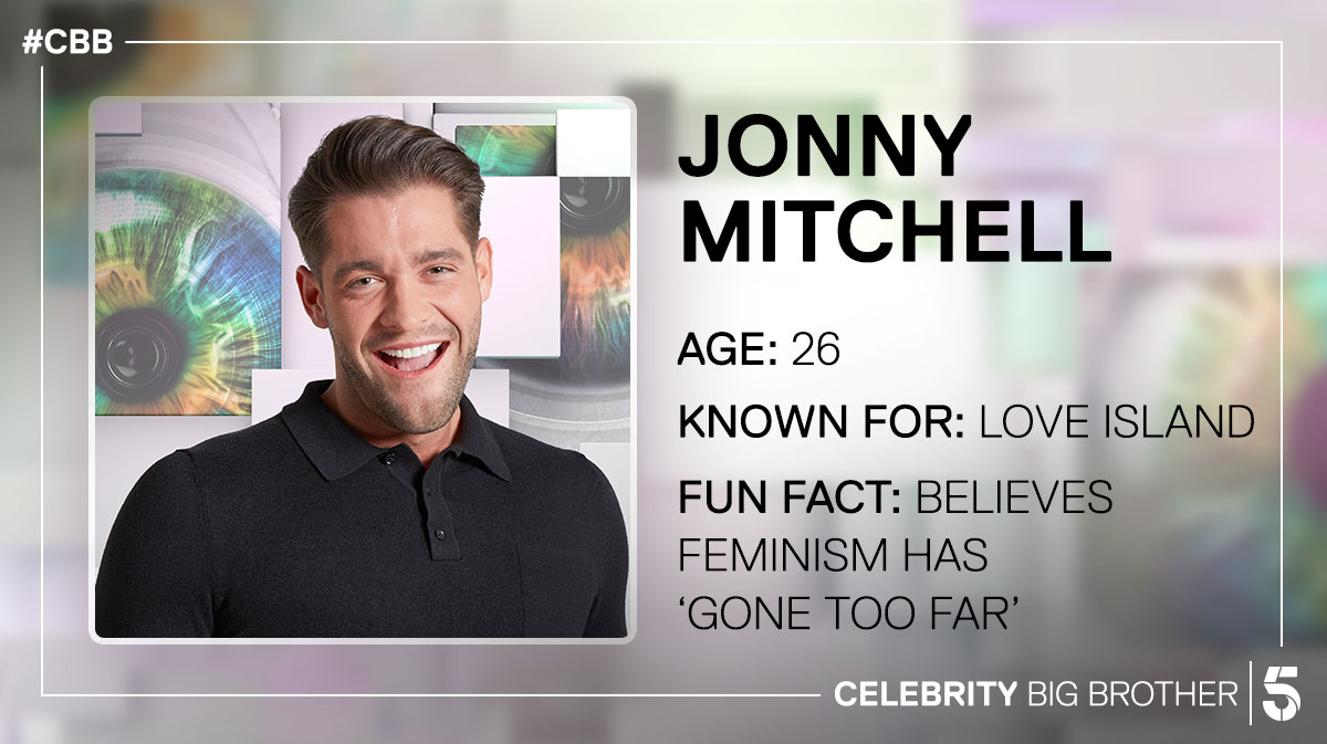 Jonny Mitchell is Up for Eviction. Credit: Channel 5 / Celebrity Big Brother