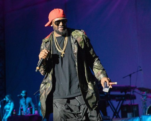 Kelly back in July 2018 at the 4th Annual V103 Summer Block Party. Credit: PA