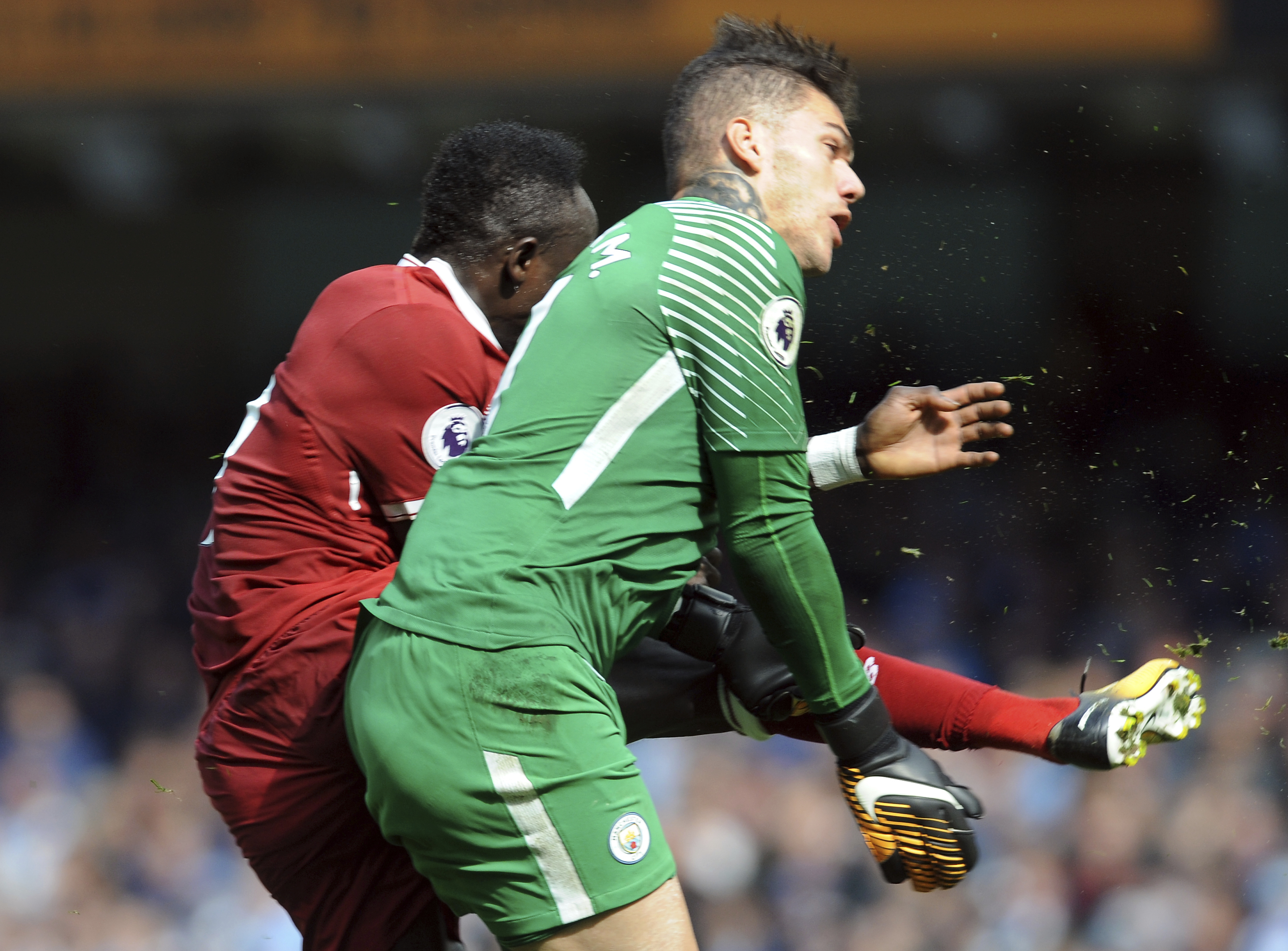 Sadio Mane Sends Ederson A Classy Message After Kicking Him In The
