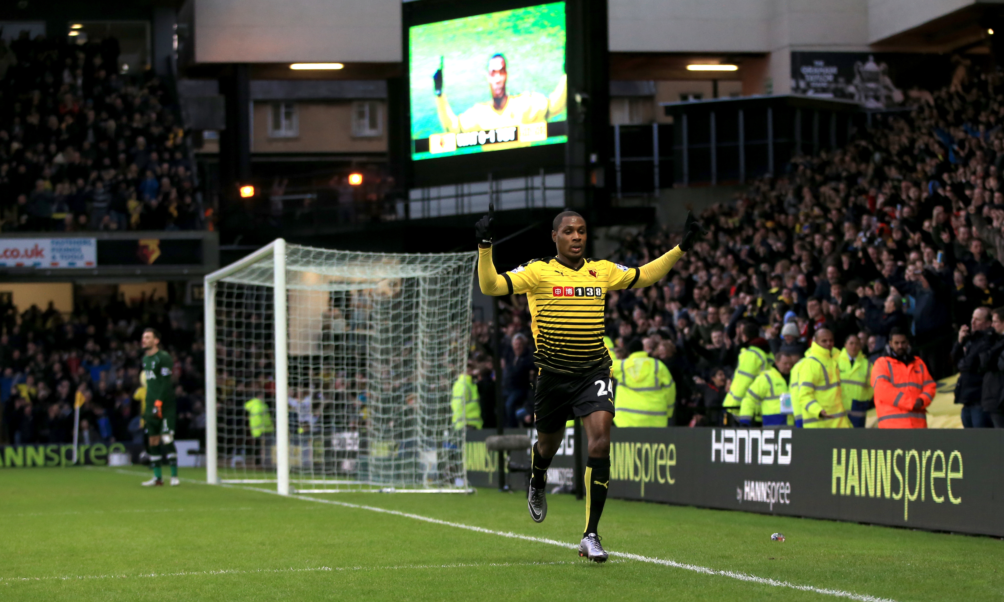 Ighalo was on fire in his debut Premier League season. Image: PA Images
