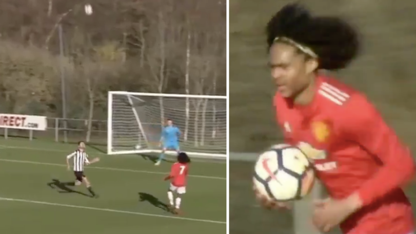 Manchester United's Tahith Chong Just Pulled Off Outrageous Touch To Score vs. Newcastle