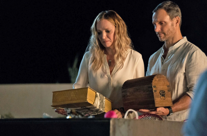 Uma Thurman plays the mother of the dead heart donor. Credit: Netflix