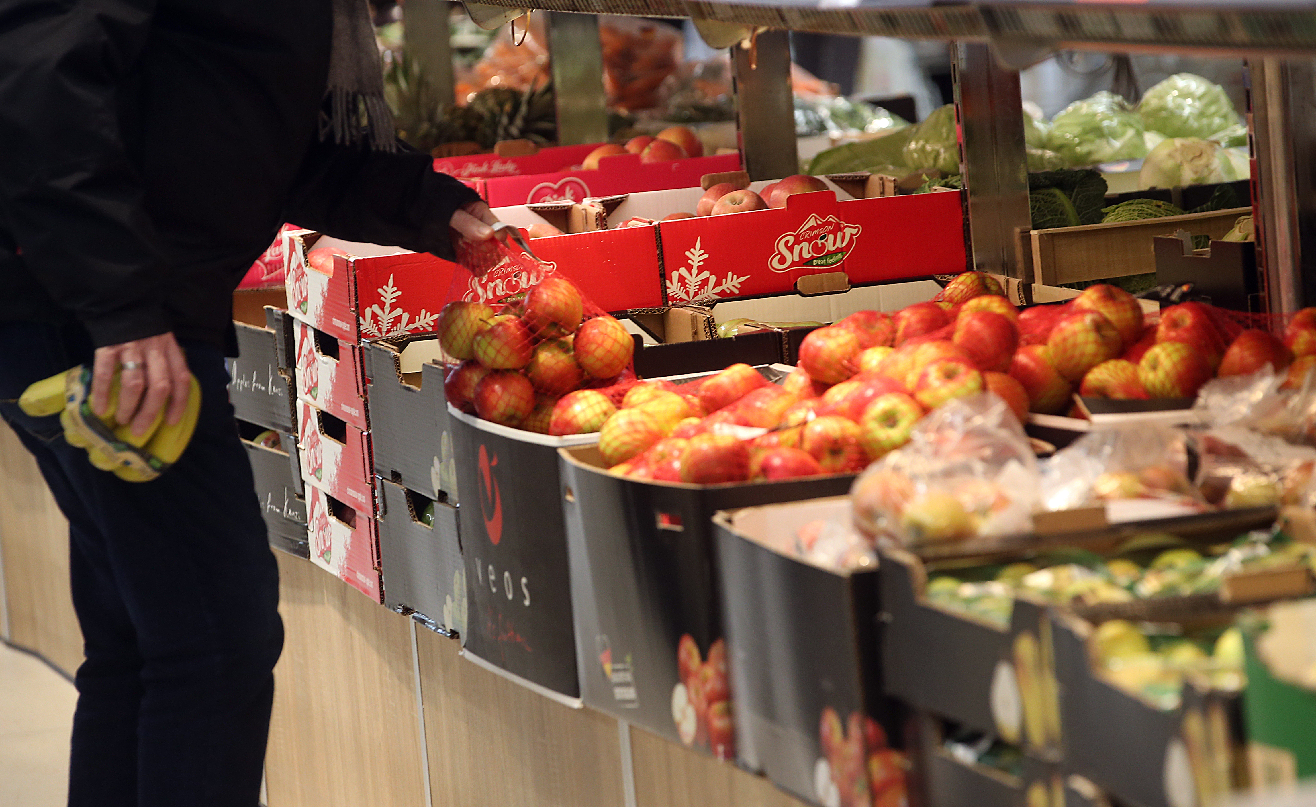 Sainsbury's is scrapping plastic bags for loose items such as fruit and veg. Credit: PA
