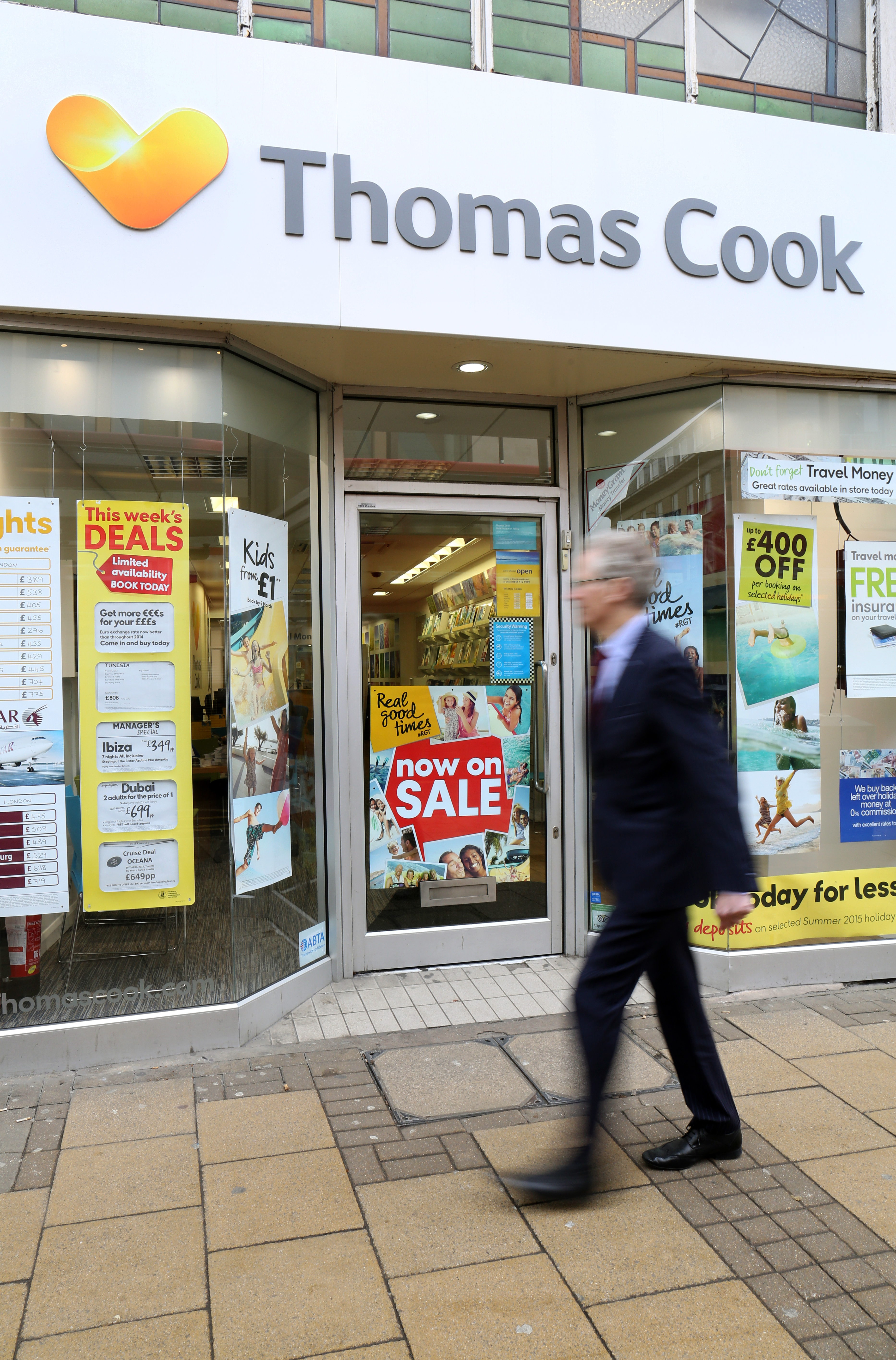 Thomas Cook is one of the few travel firms to still have high street stores. Credit: PA