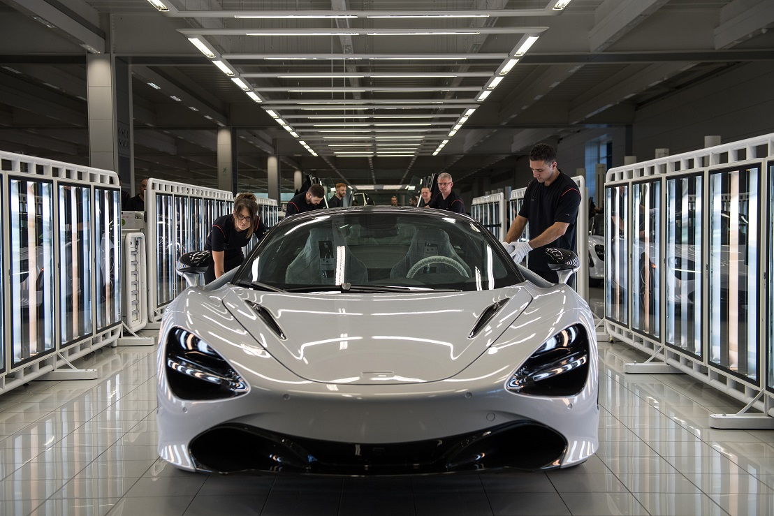 This is what the McLaren supercar looks like. Credit: PA