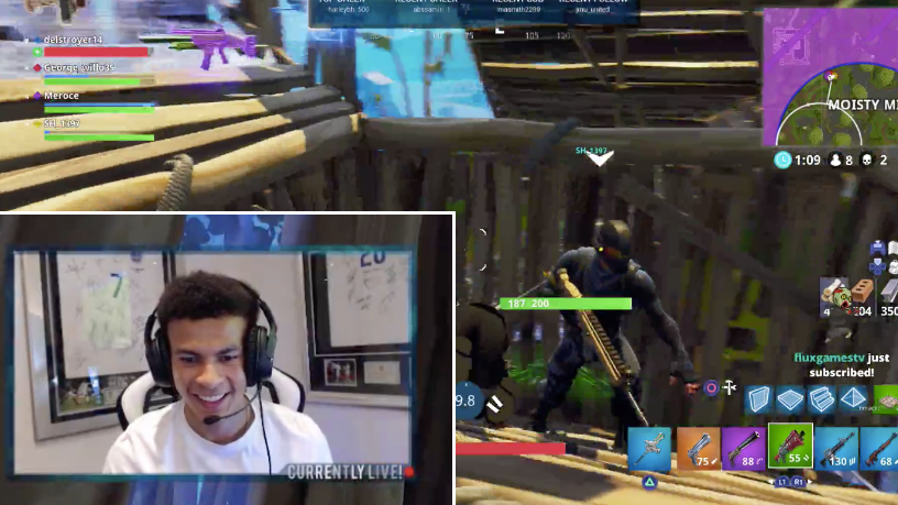 dele alli is streaming fortnite on twitch while the champions league semi final is on - champion league fortnite png