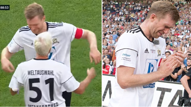 Per Mertesacker Was Replaced By His 67-Year Old Dad In Tearful Testimonial