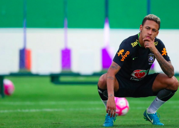 Neymar contemplates how this is all his fault. Image: PA Images