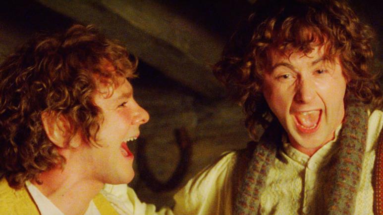Hobbits having fun Credit: New Line Cinema