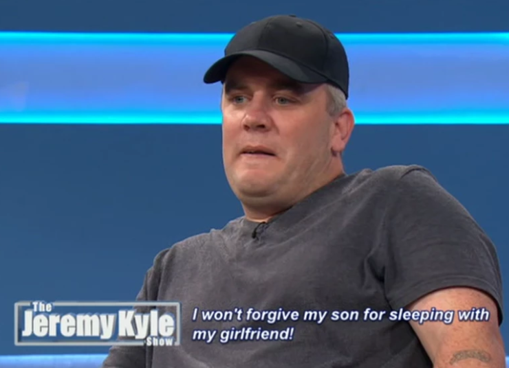 Wayne wasn't a happy chappy on The Jeremy Kyle Show, which was fair enough really. Credit: ITV