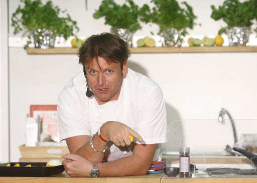 TV chef James Martin during a cooking demonstration. Credit: PA