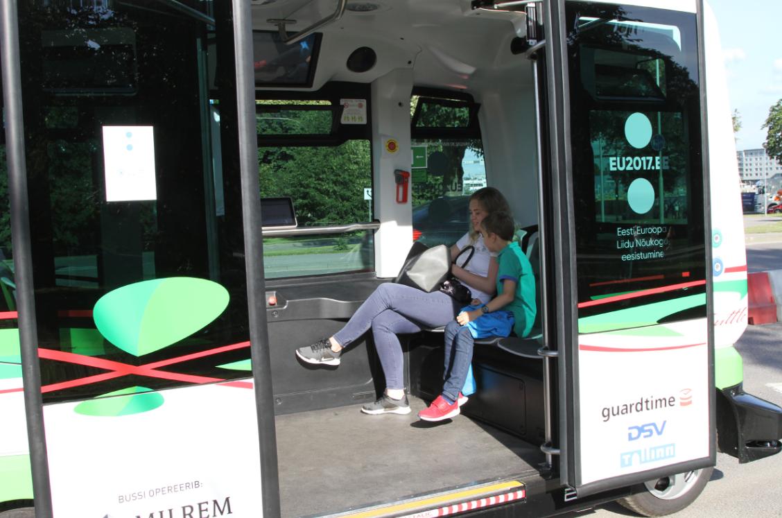 A bus in Tallinn, Estonia. Credit: PA