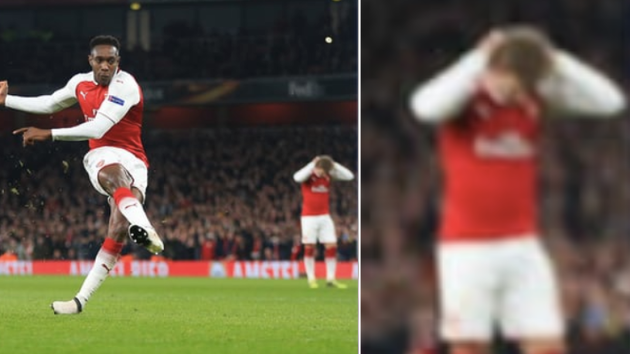 Nacho Monreal's Reaction When Danny Welbeck Steps Up To Take The Penalty Is Priceless