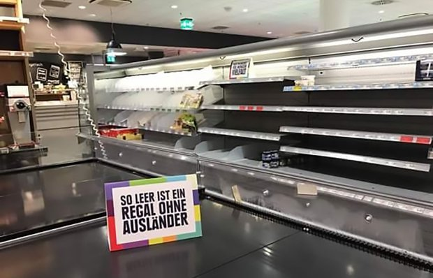 This supermarket took foreign food off its shelves to protest racism