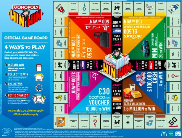 mcdonald 39 s monopoly is officially coming back into uk. Black Bedroom Furniture Sets. Home Design Ideas