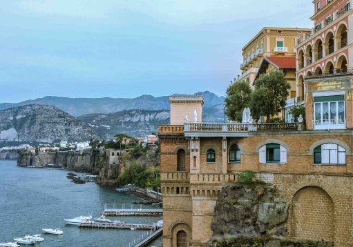 The beers are a little on the steep side in Sorrento, but it could be worth it for the food and the scenery. Credit: PA