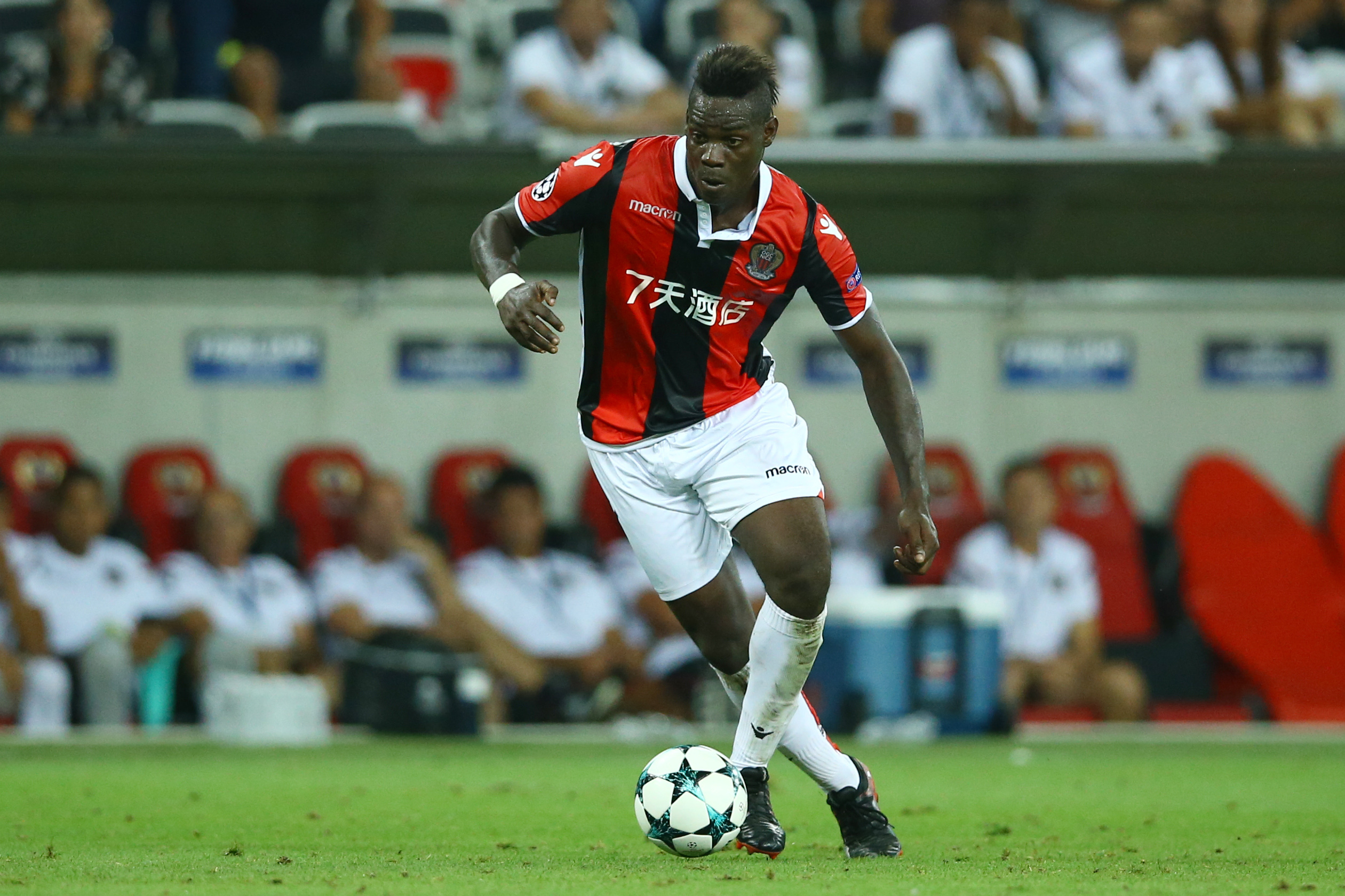 Balotelli in action for Nice from last season. Image: PA