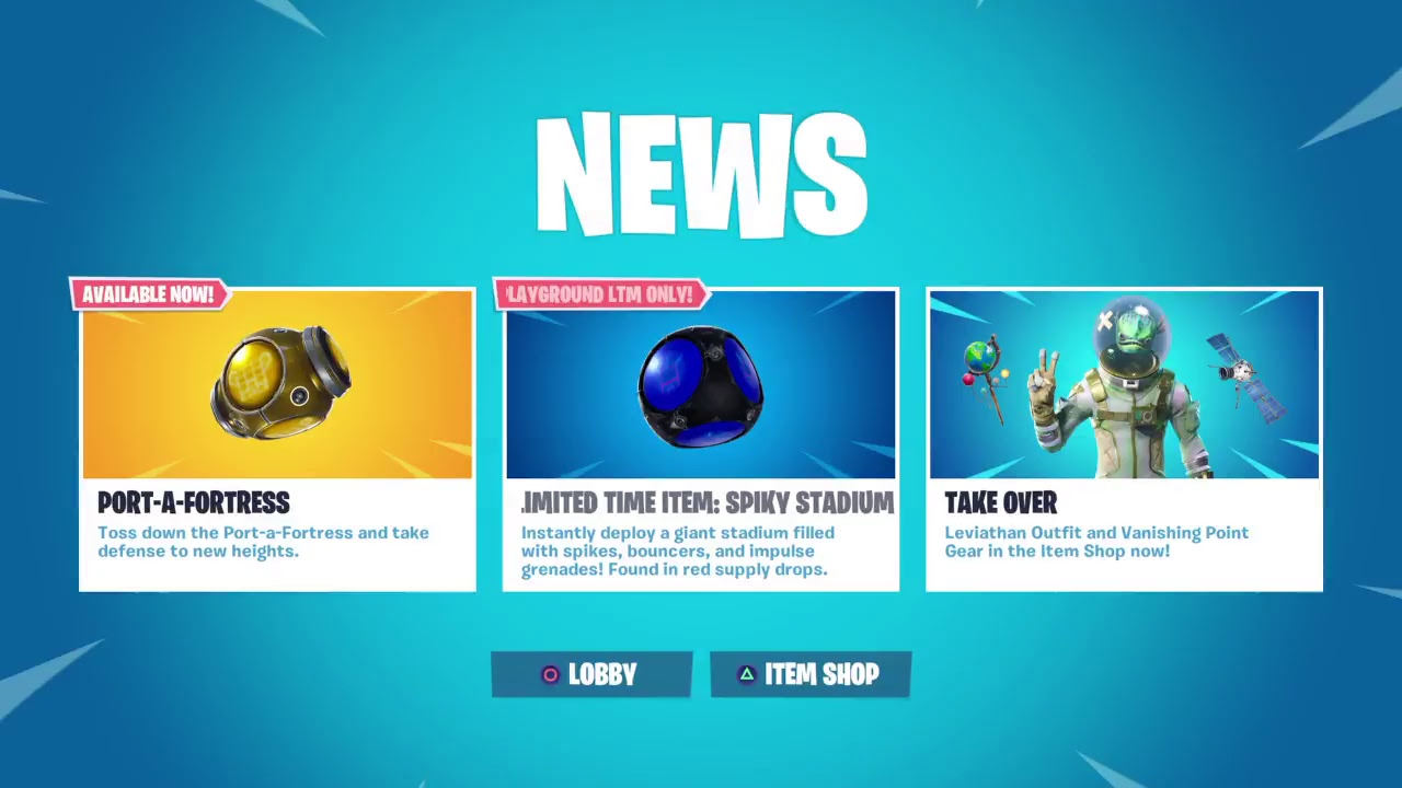 Fortnite Adding Port-a-Fortress Item