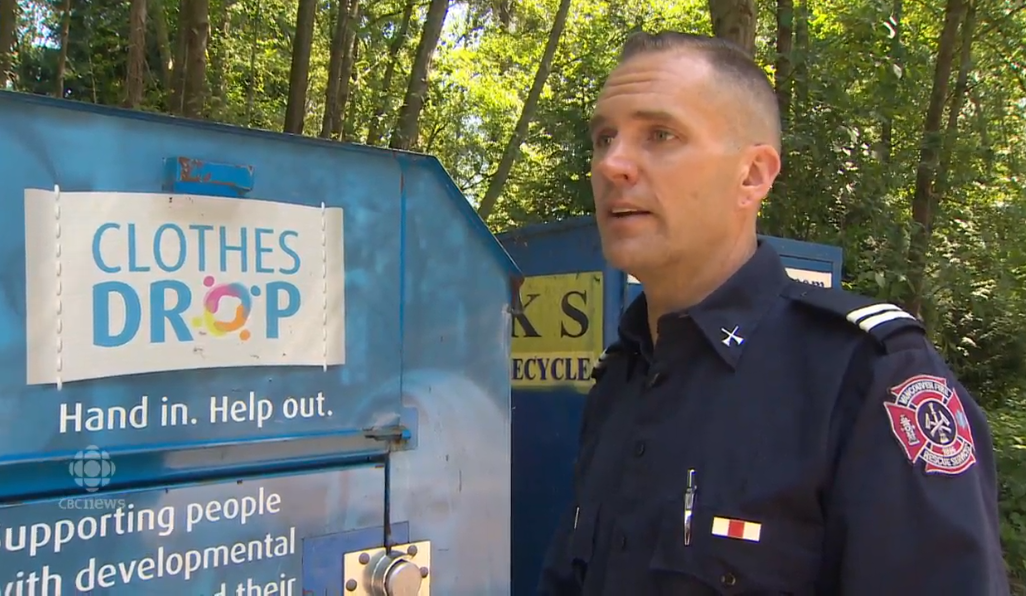 Another person has died after becoming trapped in a clothing donation bin