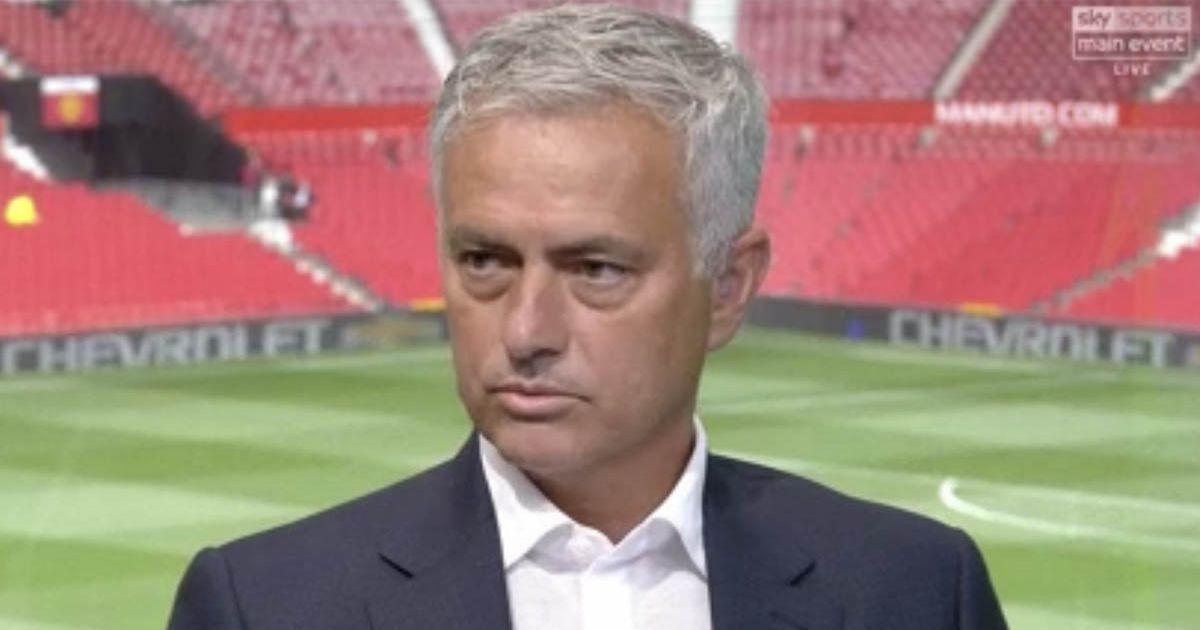 Jose Mourinho had a little dig at Luke Shaw while appearing as a Sky Sports pundit