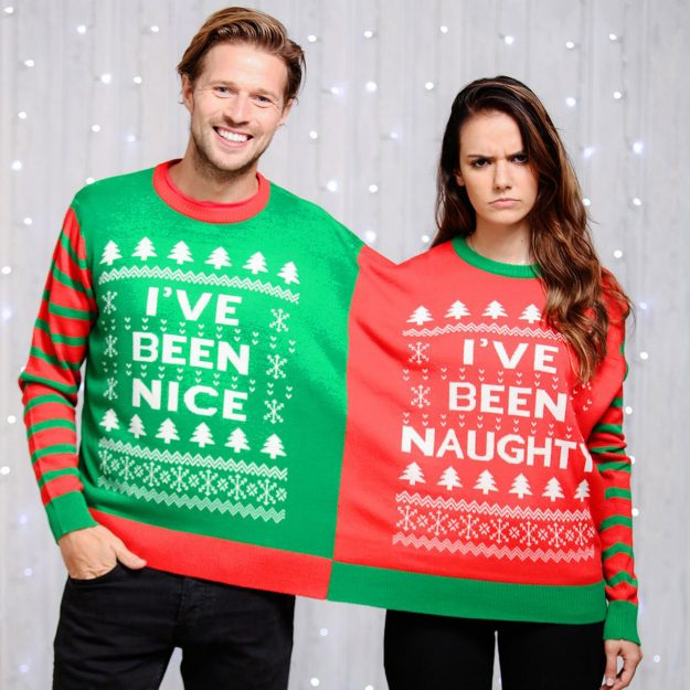 You could stay extra cosy with a double Christmas jumper. (Credit: Cheesy Christmas Jumpers)