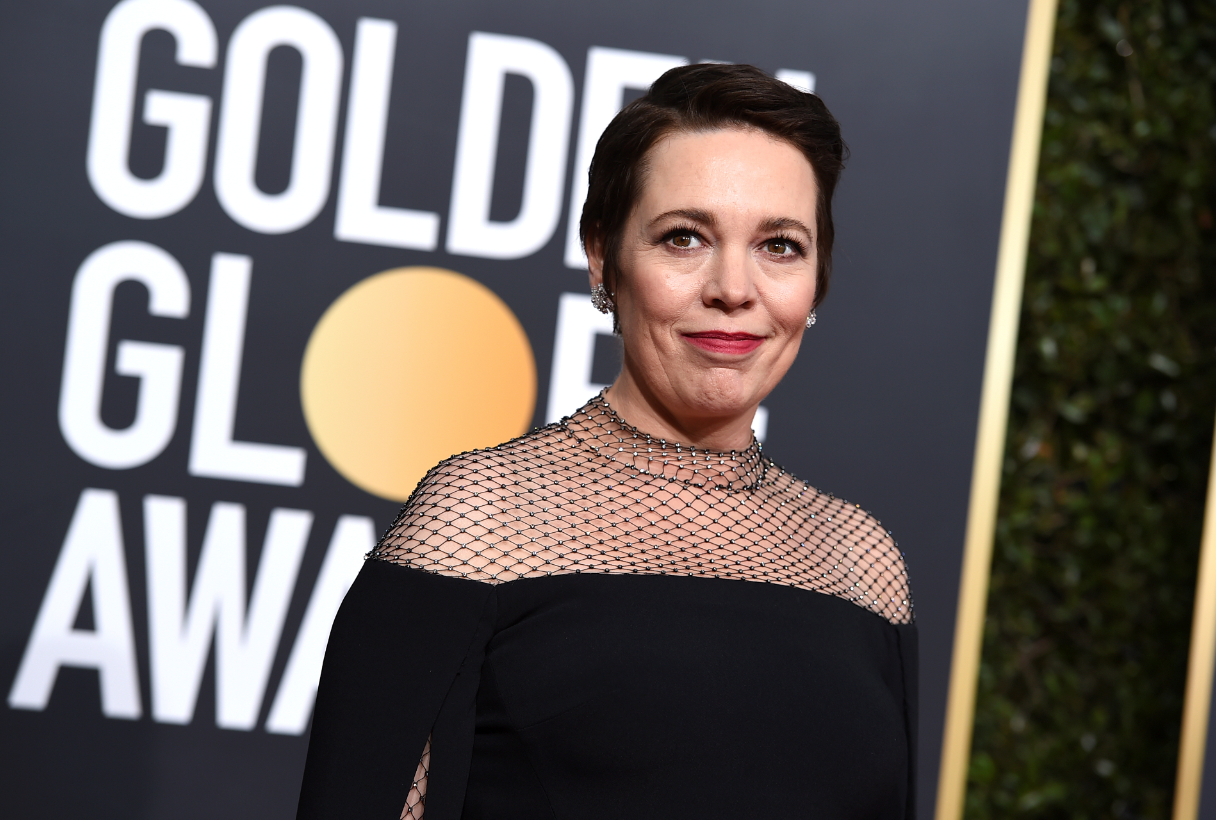 Colman on the red carpet at this evening's Golden Globes. Credit: PA