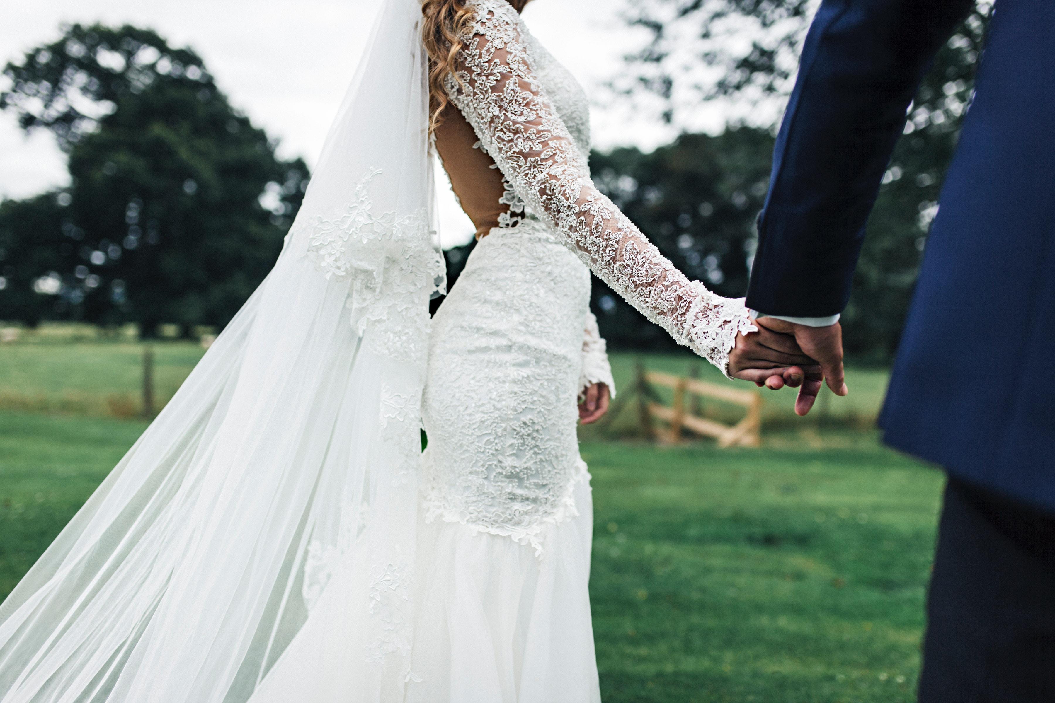 Wedding dresses don't normally have pockets. Credit: Unsplash