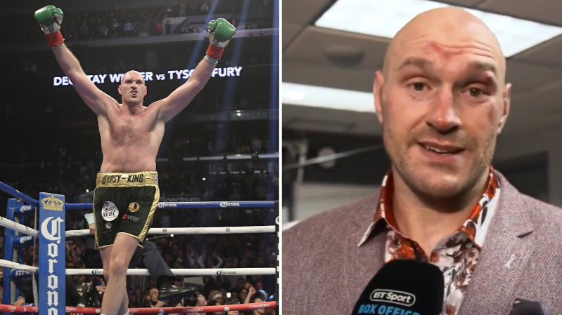 Tyson Fury Dedicates His Performance To Everyone Suffering With Depression