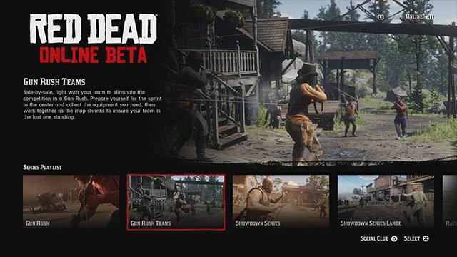 Gun Rush Teams in 'Red Dead Online'. Credit: Rockstar Games