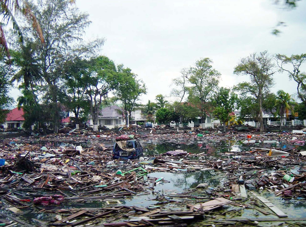 The 2004 Boxing Day tsunami in south-east Asia. Credit: PA