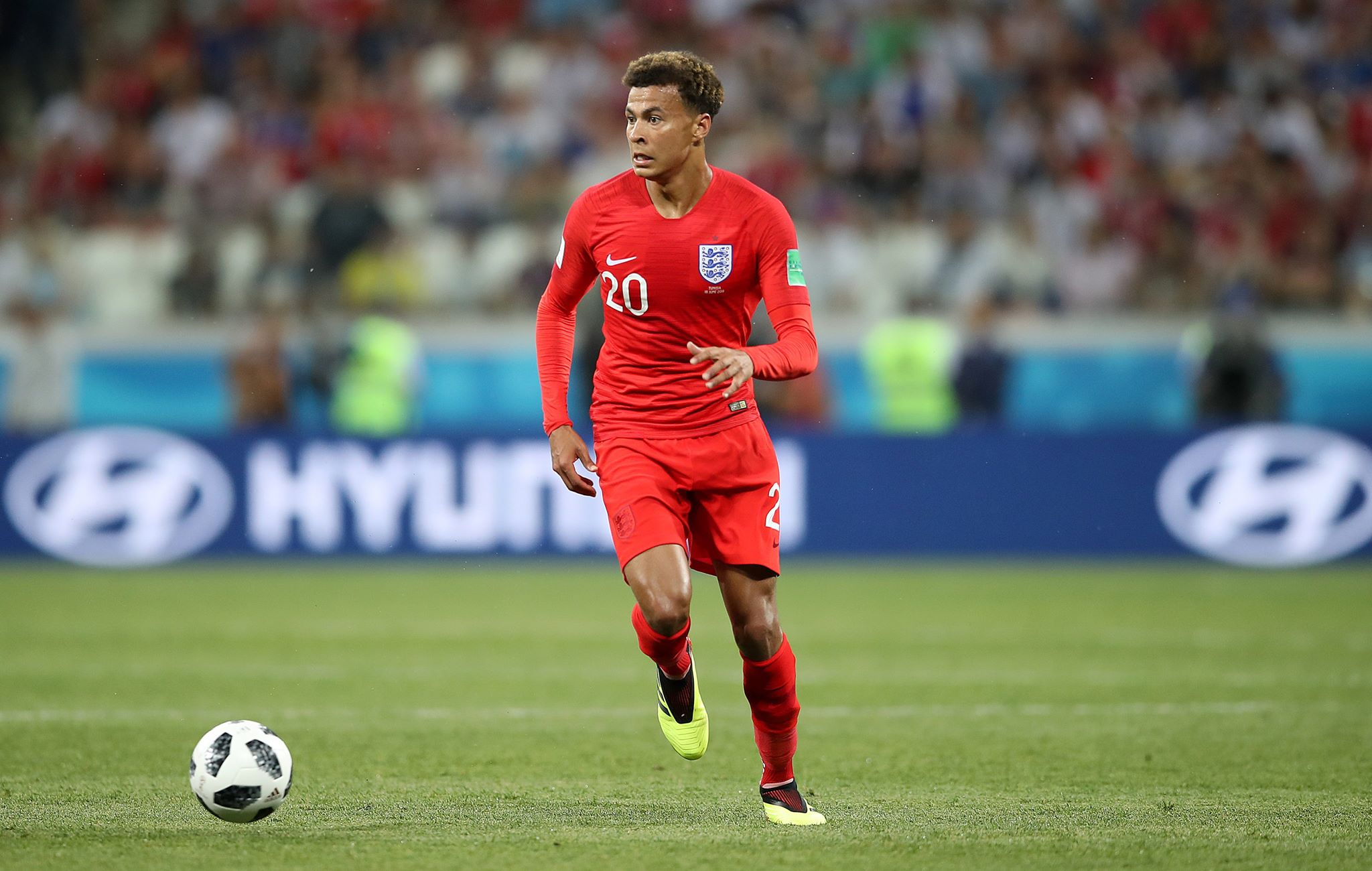 Alli in action for England at the World Cup. Image: PA
